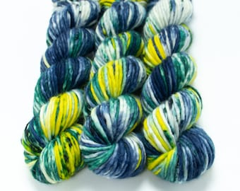 Super Bulky Yarn Merino Nylon, Hand Dyed Yarn, Speckled, Single Ply, Superwash Hand Dyed, Maizy Super Bulky - It's Flannel Time! *In Stock