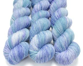 MCN DK Yarn, Hand Dyed, Superwash Merino Cashmere Nylon, Double Knitting Weight, Bliss MCN dk, 100g 231 yds - Hydrangea