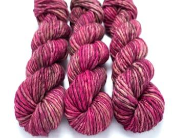 Super Bulky Yarn Merino Nylon, Hand Dyed Yarn, Semi Solid, Single Ply, Superwash Hand Dyed, Maizy Super Bulky - Lady Godiva *In Stock
