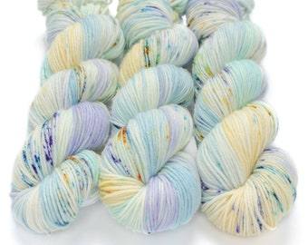 MCN DK Yarn, Speckled Hand Dyed, Superwash Merino Cashmere Nylon, Double Knitting Weight, Bliss MCN dk, 100g 231 yds - Fairy Bottom Burps