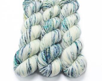 Sport Weight Yarn, Hand Dyed, Speckled, Superwash Merino, 100 g 325 yds, Super Squishy Sport Superwash - By The Sea Shore *In Stock