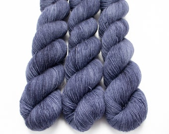 Fingering Yarn Singles Hand Dyed, Semi Solid, Superwash Merino, Fingering Weight Hand Dyed 100g, Shire Singles - Midnight Sky *In Stock