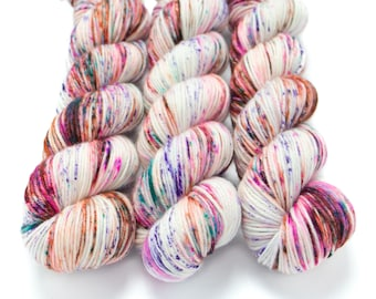 MCN DK Yarn, Speckled Hand Dyed, Superwash Merino Cashmere Nylon, Double Knitting, Bliss MCN dk, 100g 231 yds - Surprise Party *In Stock