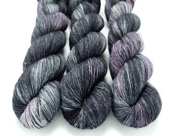 Sock Yarn, Hand Dyed, Semi Solid, Glazed, Superwash Merino Nylon Fingering Weight 100 g, Staple Sock - Leggins Are Totally Pants *In Stock