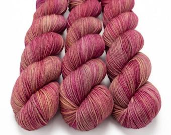 Sport Weight Yarn, Hand Dyed, Tonal Yarn, Semi Solid, Superwash Merino, 100 g 325 yds, Super Squishy Sport Superwash- Lady Godiva *In Stock