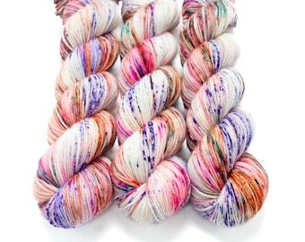 Sport Weight Yarn, Hand Dyed, Speckled, Superwash Merino, 100 g 325 yds, Super Squishy Sport Superwash - Surprise Party *In Stock