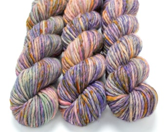 Super Bulky Yarn Merino Nylon, Hand Dyed Yarn, Speckled, Single Ply, Superwash Hand Dyed, Maizy Super Bulky - Jumbled Up Fun *In Stock