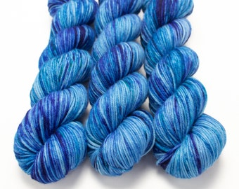 MCN DK Yarn, Speckled Hand Dyed, Superwash Merino Cashmere Nylon, Double Knitting, Bliss MCN dk, 100g 231 yds - DaBaDeeDaBaDye *In Stock
