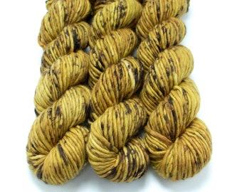 Super Bulky Yarn Merino Nylon, Hand Dyed Yarn, Speckled Yarn, Single Ply, Superwash Hand Dyed, Maizy Super Bulky - Buzz Off *In Stock