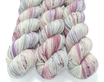 Worsted Weight Yarn, Hand Dyed, Speckled, Superwash Merino, Hand Dyed Yarn 100 g/218 yds, Worsted Yarn - Unicorn Farts