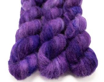 Suri Alpaca Silk Yarn, Hand Dyed, Speckled, Alpaca Silk Lace Weight, Brushed Alpaca 50 g, Alpaca Floof - Belladonna *In Stock