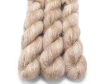 Mohair Silk Yarn, Hand Dyed, Semisolid, Kid Silk Lace Weight, Brushed Mohair 50 g, Dandelion Mohair - Sabulous *In Stock