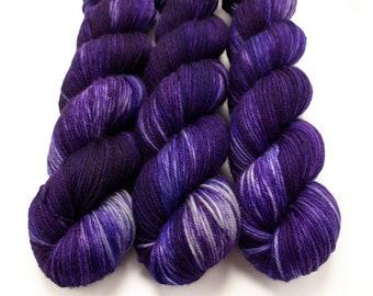 MCN DK Yarn, Hand Dyed, Superwash Merino Cashmere Nylon, Double Knitting, Bliss MCN dk, 100g 231 yds - Belladonna *In Stock