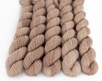 Mini Skein Sock Yarn, Hand Dyed, Speckled Sock Yarn, Superwash Merino Nylon Fingering Weight 20g, Staple Sock  - Sabulous *In Stock