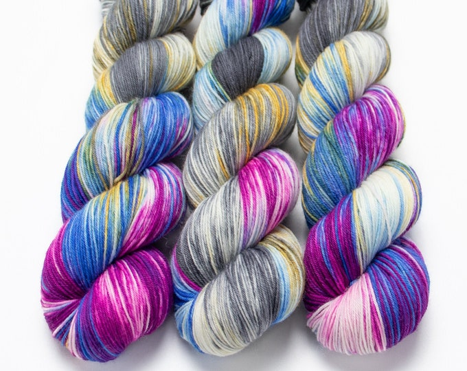 Featured listing image: Staple Sock Yarn Hand Dyed Superwash Merino Nylon Fingering Weight Hand Dyed 100 g - Dream Weaver *In Stock