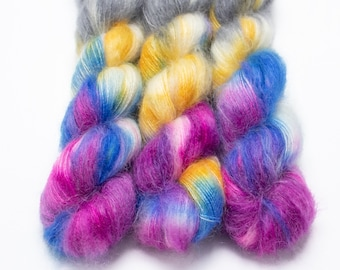 Mohair Silk Yarn, Hand Dyed, Kid Silk Lace Weight, Brushed Mohair 50 g, Dandelion Mohair - Dream Weaver *In Stock