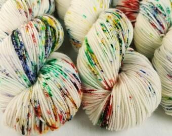 Sport Weight Yarn, Hand Dyed, Speckled, Superwash Merino, 100 g 325 yds, Super Squishy Sport Superwash- Pixie Dust *In Stock