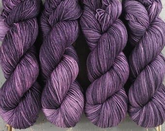 Sock Yarn, Hand Dyed, Speckled, Superwash Merino Nylon Fingering Weight 100 g, Staple Sock - Twilight *In Stock