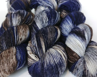Fingering Yarn Singles Hand Dyed, Specked, Superwash Merino, Fingering Weight Hand Dyed 100g, Shire Singles - Beast *In Stock