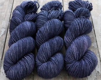 MCN DK Yarn, Hand Dyed, Superwash Merino Cashmere Nylon, Double Knitting Weight, Bliss MCN dk, 100g 231 yds - Deep Rinse *In Stock