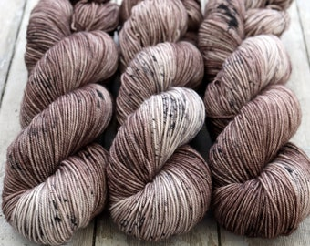 Sport Weight Yarn, Hand Dyed, Speckled, Superwash Merino, 100 g 325 yds, Super Squishy Sport Superwash- Mushroom *In Stock