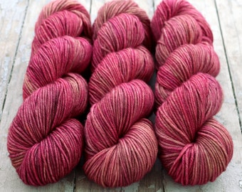 MCN DK Yarn, Hand Dyed, Superwash Merino Cashmere Nylon, Double Knitting Weight, Bliss MCN dk, 100g 231 yds - Lady Godiva *In Stock