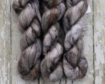 Mohair Silk Yarn, Hand Dyed, Speckled, Kid Silk Lace Weight, Brushed Mohair 50 g, Dandelion Mohair - Wild Flower 08 *In Stock