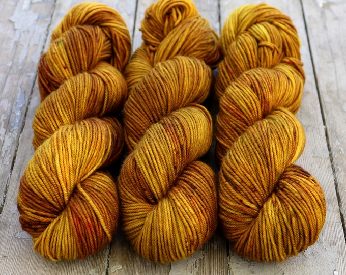 Featured listing image: MCN DK Yarn, Speckled Hand Dyed, Superwash Merino Cashmere Nylon, Double Knitting, Bliss MCN dk, 100g 231 yds - Oh Honey Honey *In Stock