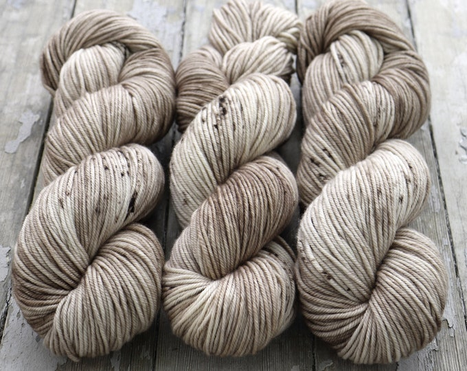 Featured listing image: MCN DK Yarn, Speckled Hand Dyed, Superwash Merino Cashmere Nylon, Double Knitting, Bliss MCN dk, 100g 231 yds - Crimini *In Stock