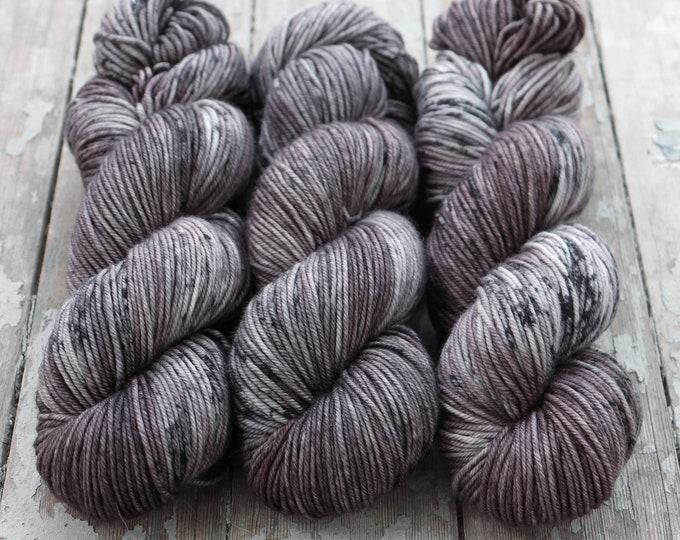 Featured listing image: MCN DK Yarn, Speckled Hand Dyed, Superwash Merino Cashmere Nylon, Double Knitting, Bliss MCN dk, 100g 231 yds - Mushroom *In Stock