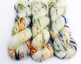 MCN DK Yarn, Speckled Hand Dyed, Superwash Merino Cashmere Nylon, Double Knitting, Bliss MCN dk, 100g 231 yds - Harvest Moon *In Stock