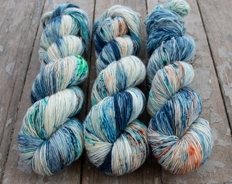 Fingering Yarn Singles Hand Dyed, Specked, Superwash Merino, Fingering Weight Hand Dyed 100g, Shire Singles - Ludwig *In Stock