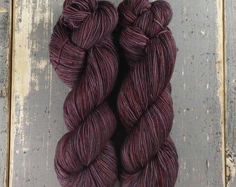 Sock Yarn, Hand Dyed, Speckled, Superwash Merino Nylon Fingering Weight 100 g, Staple Sock - Madalena *In Stock