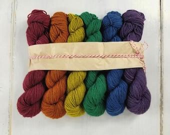 Gradient Set//Sock Yarn//Yak Merino Sock Yarn//Superwash Merino Yak Nylon//Fingering Weight 120 g - Autumn Rainbow*In Stock