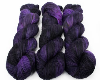 Sock Yarn, Hand Dyed, Speckled, Superwash Merino Nylon Fingering Weight 100 g, Staple Sock - Wildflower 2021 *In Stock