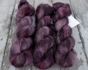 Mohair Silk Yarn, Hand Dyed, Speckled, Kid Silk Lace Weight, Brushed Mohair 50 g, Dandelion Mohair - Madalena *In Stock