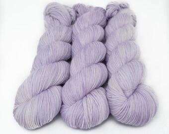 Semi Solid Sock Yarn, Hand Dyed, Superwash Merino Nylon Fingering Weight 100 g, Staple Sock  - Faint Whispers of Royalty *In Stock