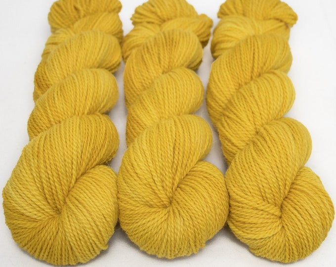 Featured listing image: Corriedale Alpaca DK Yarn, Speckled Hand Dyed, 80/20 Corridale/Alpaca, Non-superwash, Upstate DK, 100g 260 yds - Golden Hour *In Stock