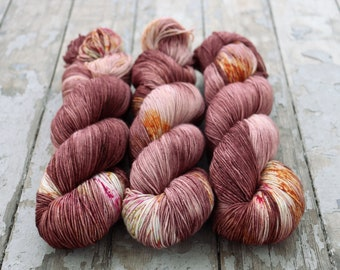 Sock Yarn, Hand Dyed, Speckled, Superwash Merino Nylon Fingering Weight 100 g, Staple Sock -Rhymes With Grove *In Stock