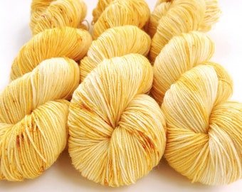 Sock Yarn, Hand Dyed, Speckled, Superwash Merino Nylon Fingering Weight 100 g, Staple Sock - Belle *In Stock