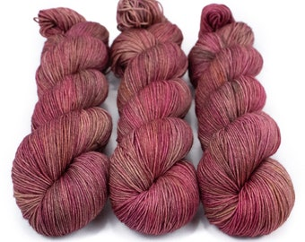 Sock Yarn, Hand Dyed, Semi Solid, Superwash Merino Nylon Fingering Weight 100 g, Staple Sock - Lady Godiva *In Stock