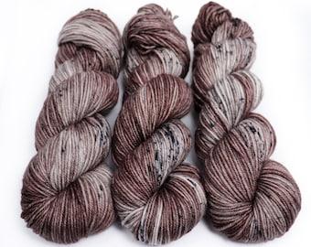 MCN DK Yarn, Speckled Hand Dyed, Superwash Merino Cashmere Nylon, Double Knitting, Bliss MCN dk, 100g 231 yds - Mushroom 1921113 *In Stock