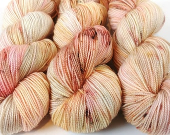 Sparkle Sock Yarn, Hand Dyed, Speckled, Superwash Merino Nylon, Fingering Weight, Pixie Sock 100 g / 438 yds - Pop The Bubbly *In Stock
