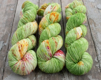 Fingering Yarn Singles Hand Dyed, Specked, Superwash Merino, Fingering Weight Hand Dyed 100g, Shire Singles - Ritsu *In Stock