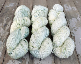 MCN DK Yarn, Speckled Hand Dyed, Superwash Merino Cashmere Nylon, Double Knitting Weight, Bliss MCN dk, 100g 231 yds - Castaway *In Stock