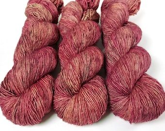 Fingering Yarn Singles Hand Dyed, Semi Solid, Superwash Merino, Fingering Weight Hand Dyed 100g, Shire Singles - Lady Godiva *In Stock