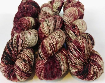 Fingering Yarn Singles Hand Dyed, Specked, Superwash Merino, Fingering Weight Hand Dyed 100g, Shire Singles - Mantra *In Stock