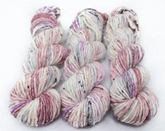 Super Bulky Yarn Merino Nylon, Hand Dyed Yarn, Semi Solid, Single Ply, Superwash Hand Dyed, Maizy Super Bulky - Unicorn Farts *In Stock