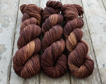 Worsted Weight Yarn, Hand Dyed, Speckled, Superwash Merino, Hand Dyed Yarn 100 g/218 yds, Worsted Yarn- Wildflower 2015 *In Stock