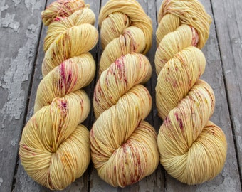 Sock Yarn, Hand Dyed, Speckled, Superwash Merino Nylon Fingering Weight 100 g, Staple Sock - Wildflower 2017 *In Stock